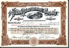 BF Wade stock certificate