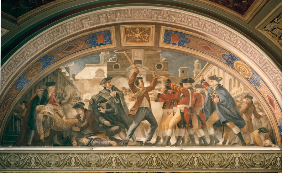 "From ""Architect of the Capitol,"" a fresco mural by Constantino Brumidi adorns a room at the U.S. Capitol."