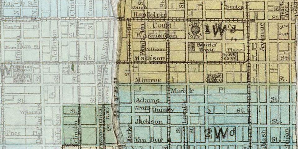 1871 Chicago Fire Map Crane S Bond